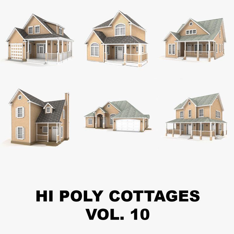 hi-poly cottages vol 10 model