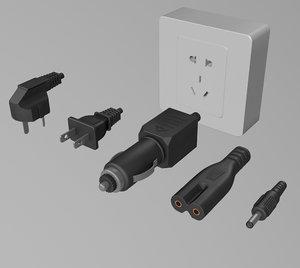 adapter plug power 3D model