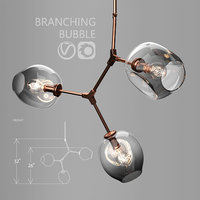 3D branching bubble 3 lamps model