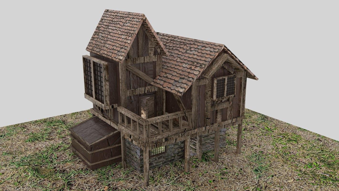 medieval 4k house 3D