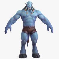 3D world warcraft male draenei
