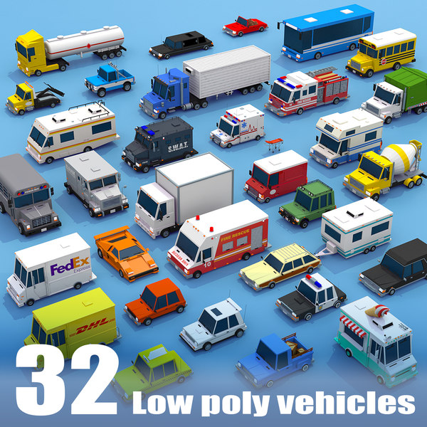 3D model vehicle mega pack