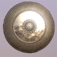 shield bronze 3D