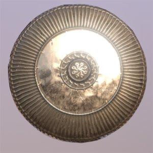 shield bronze 3D