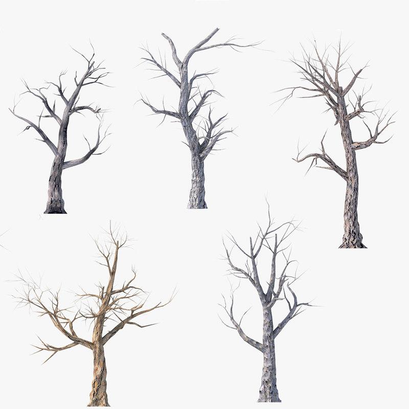 pack dead tree 3D model