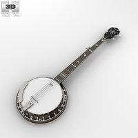 3D banjo fender instrument
