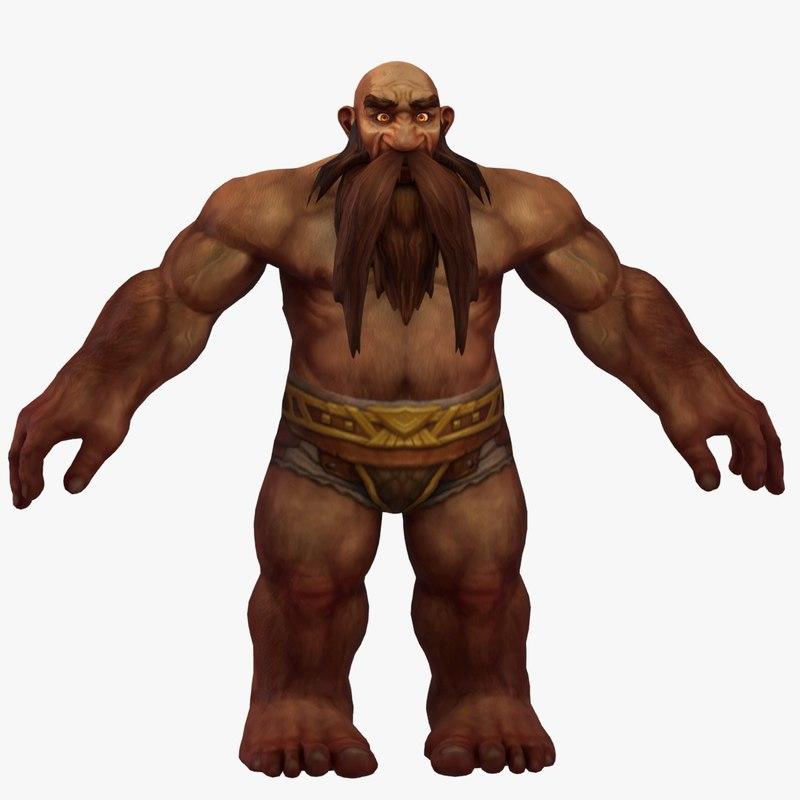 world warcraft male dwarf 3D