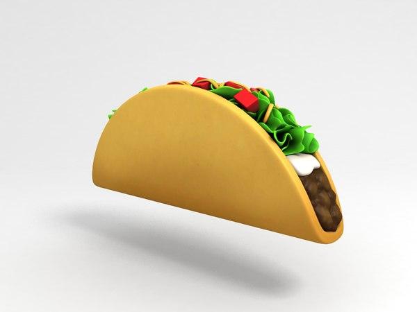 3D taco cartoon