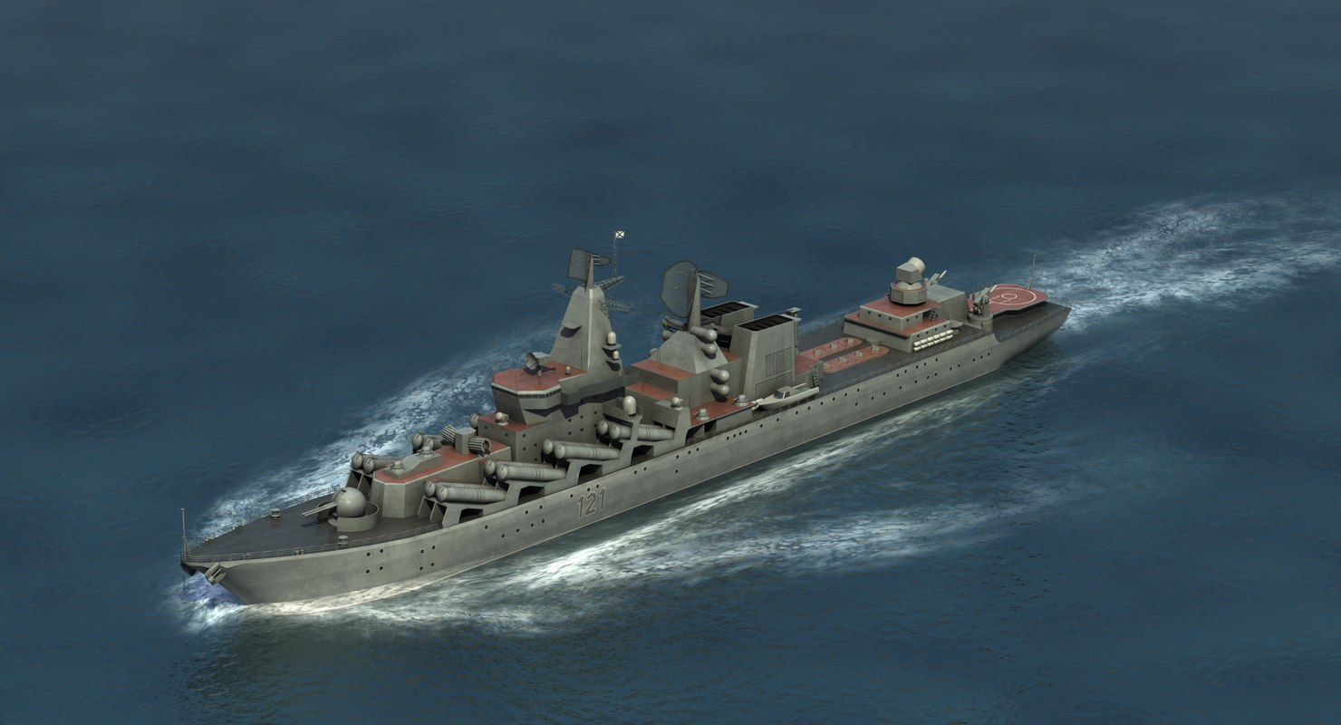 slava class cruiser 3D model