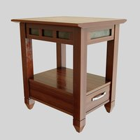 3D model small end table