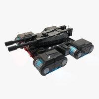 concepts combat tank 3D model
