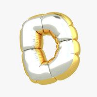 d balloon letter 3D model