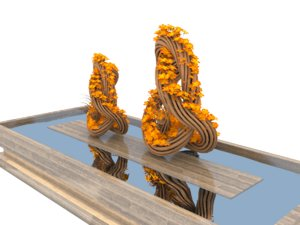 sculpture wreath 3D model