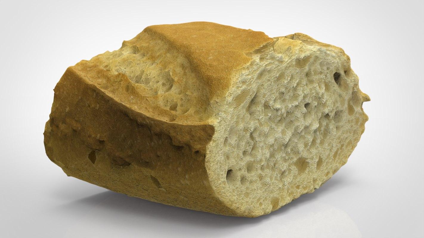 3D piece bread