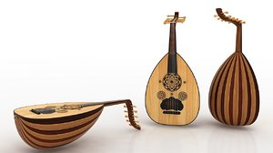 3D model arabic oud music