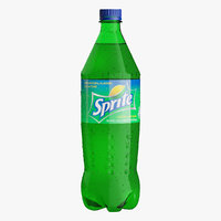 3D plastic bottle sprite 1l model