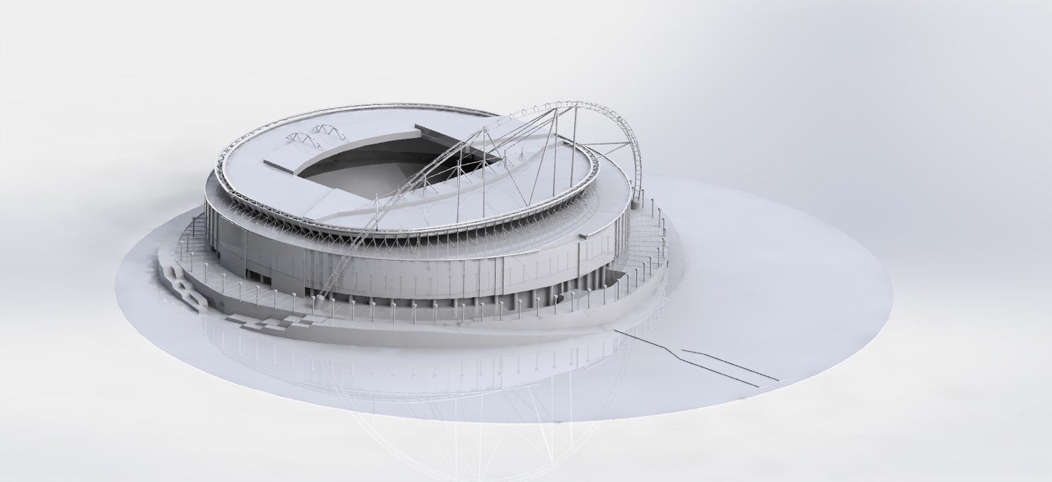 3D wembley stadium