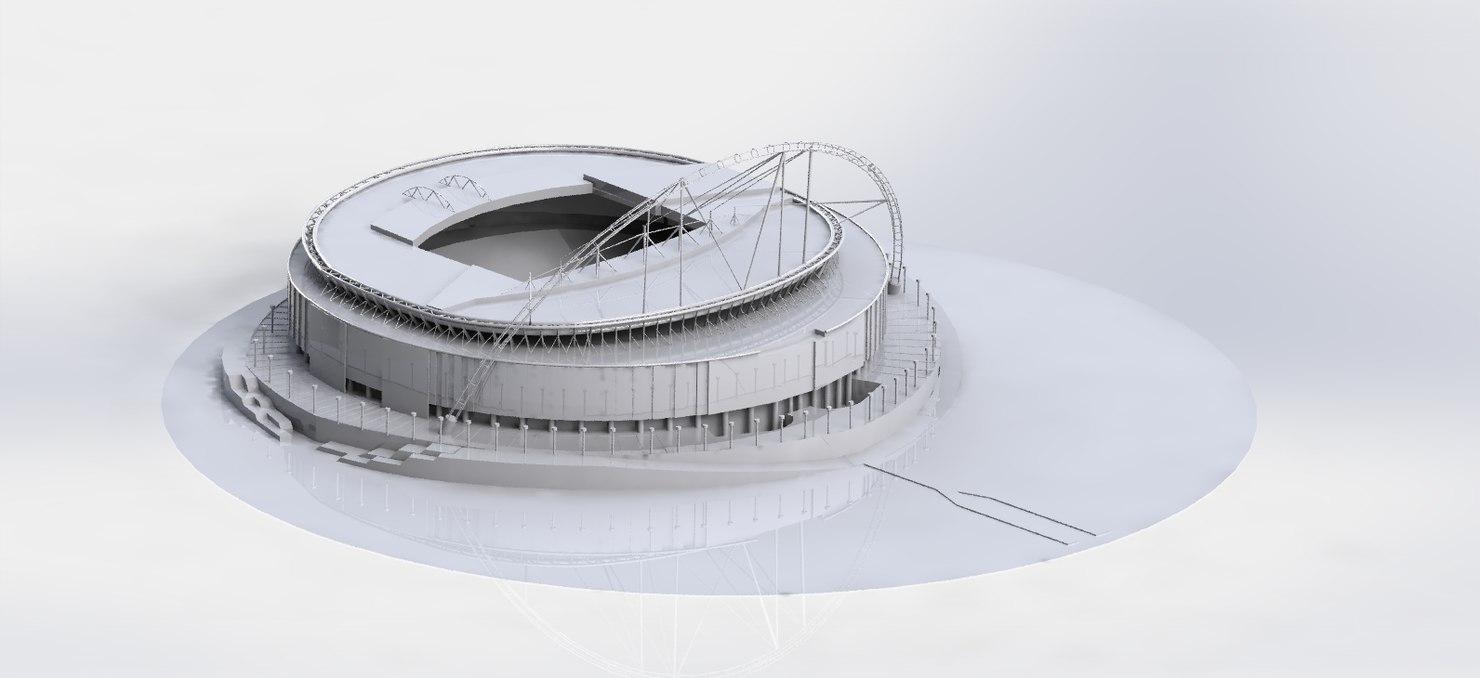 3D wembley stadium