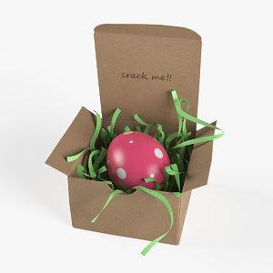 easter egg box decoration 3D model