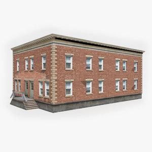 3D ready apartment building model