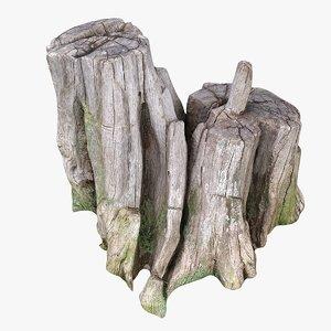 scan tree trunk 3D model