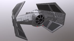 darth vader tie fighter 3D model