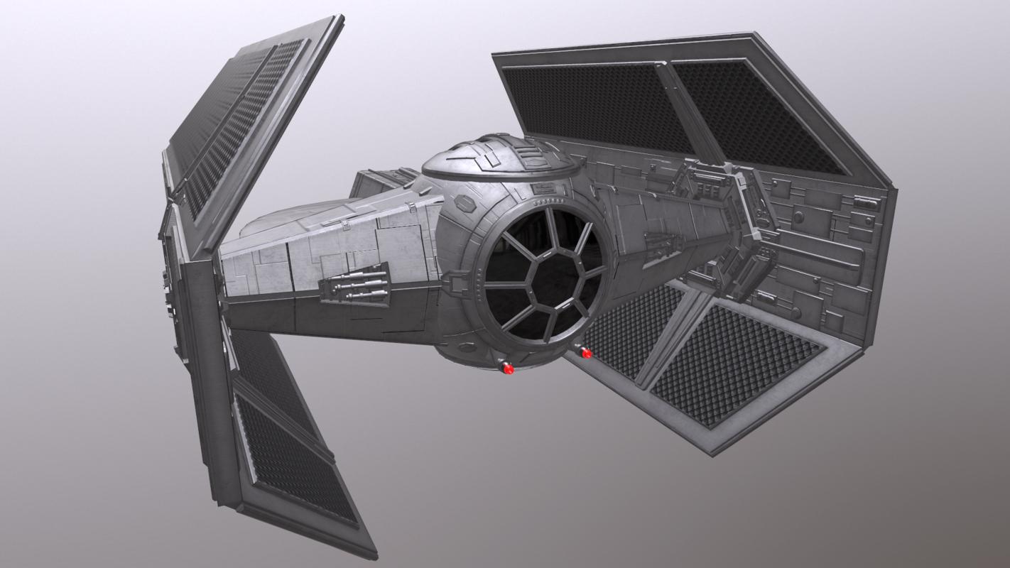 darth vader tie fighter 3D model