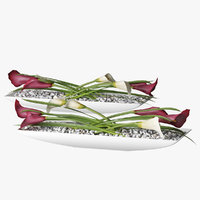 3D model decor calla lilies