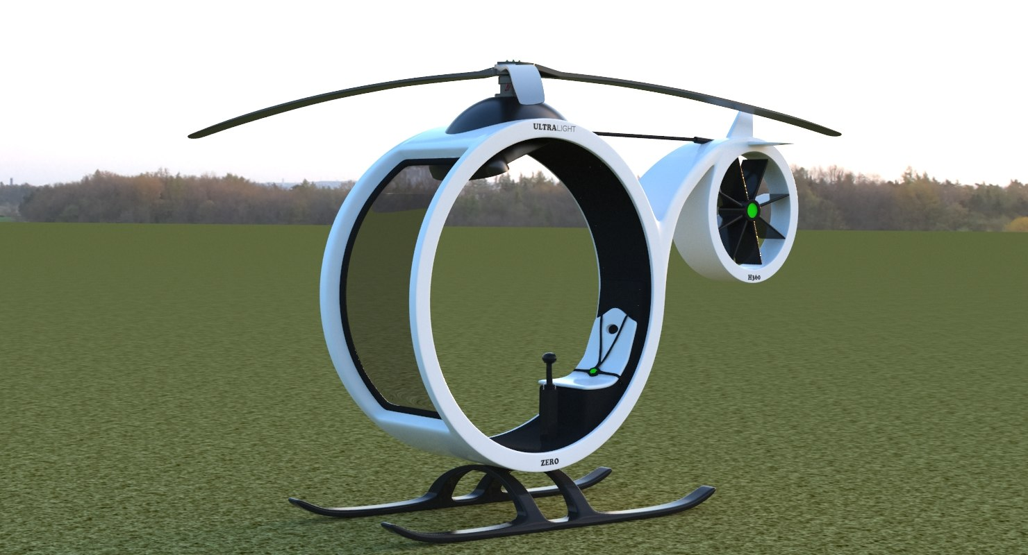 3D cartoon copter