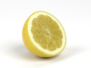 scanned lemon half model