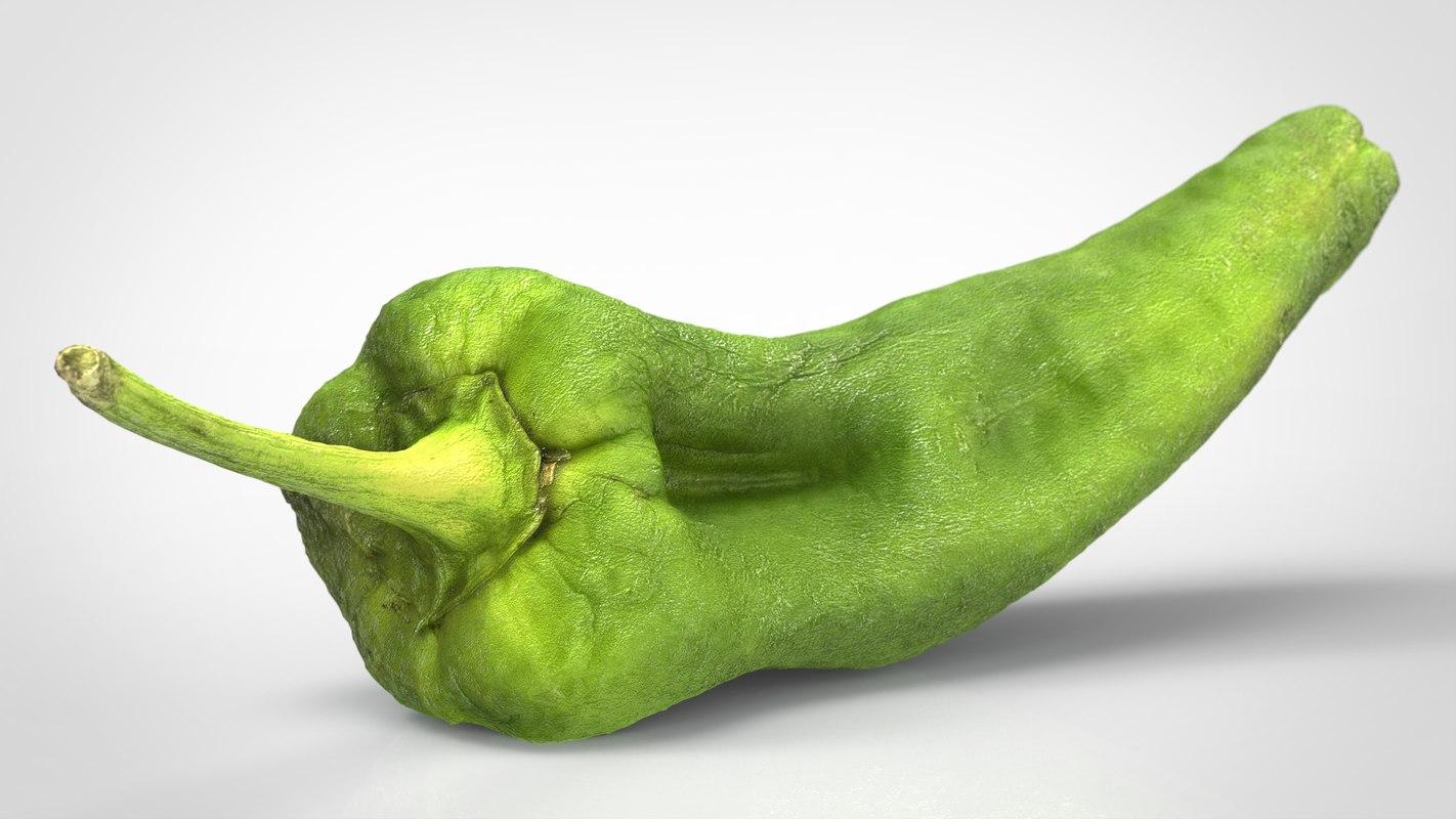 3D realistic pepper model