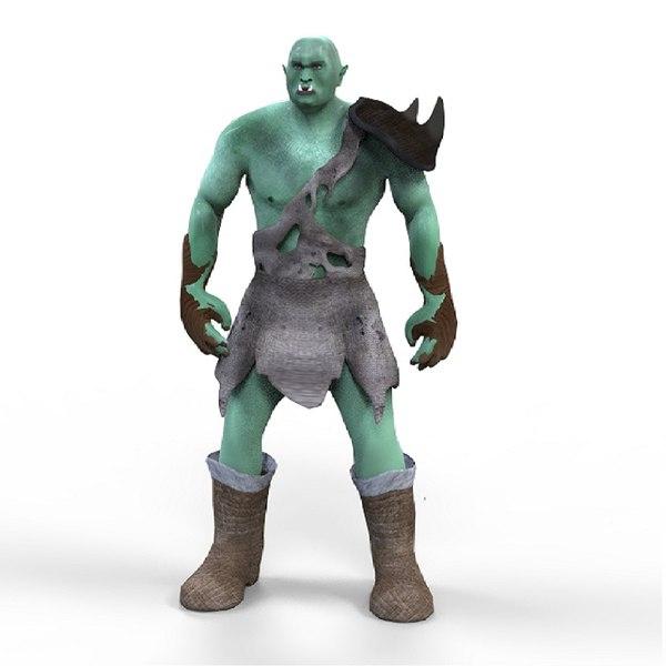 orc character games 3D model