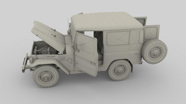 3D toyota land cruiser interior model