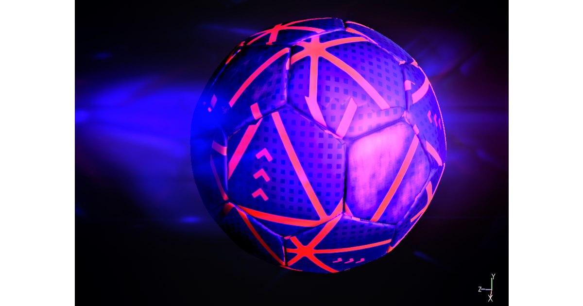 3D soccerball-rainbow realistic model