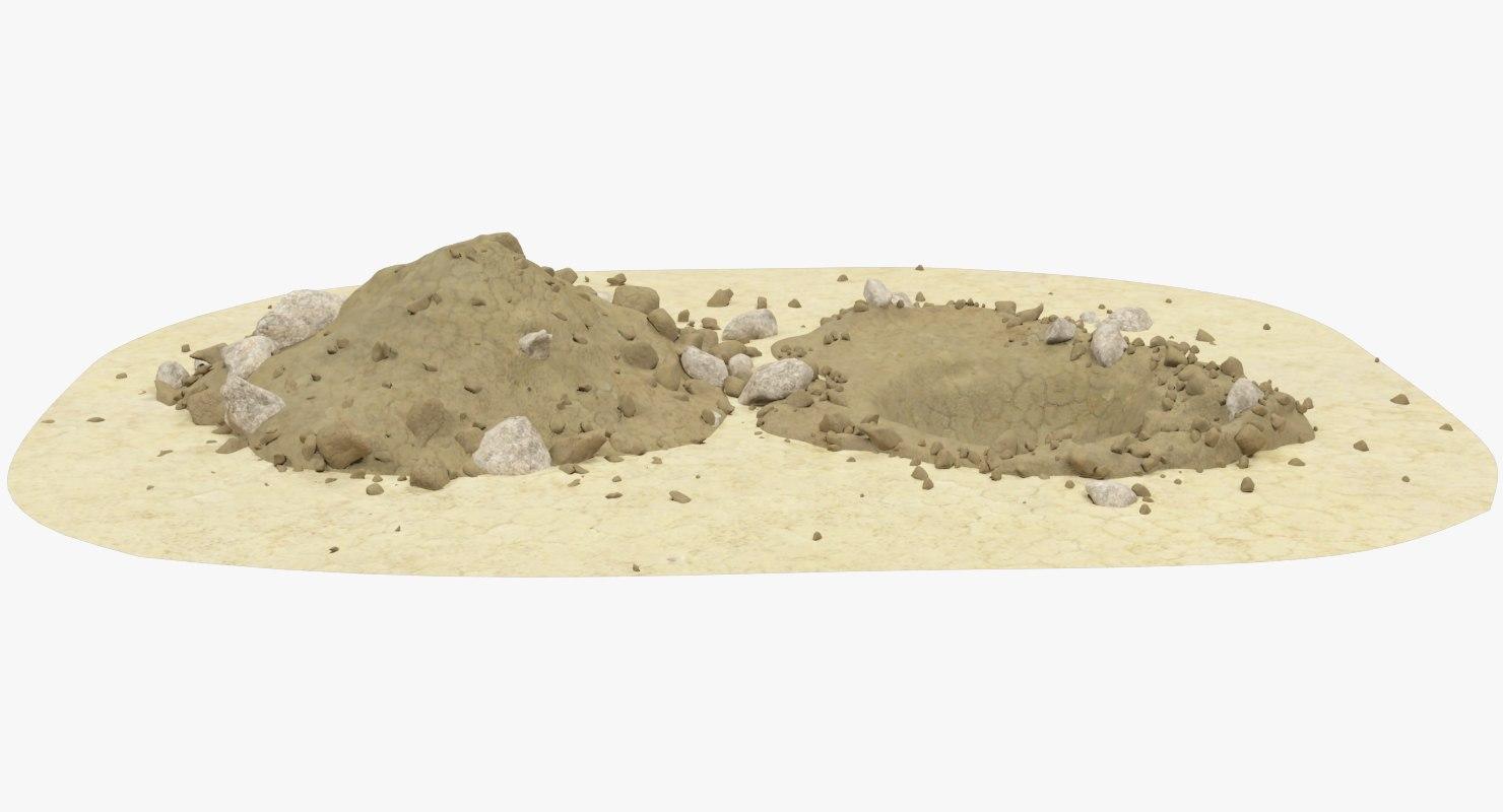 3D model pit ground