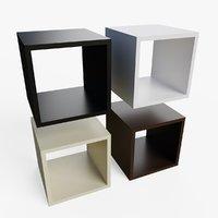 cube bookshelf ready pbr model