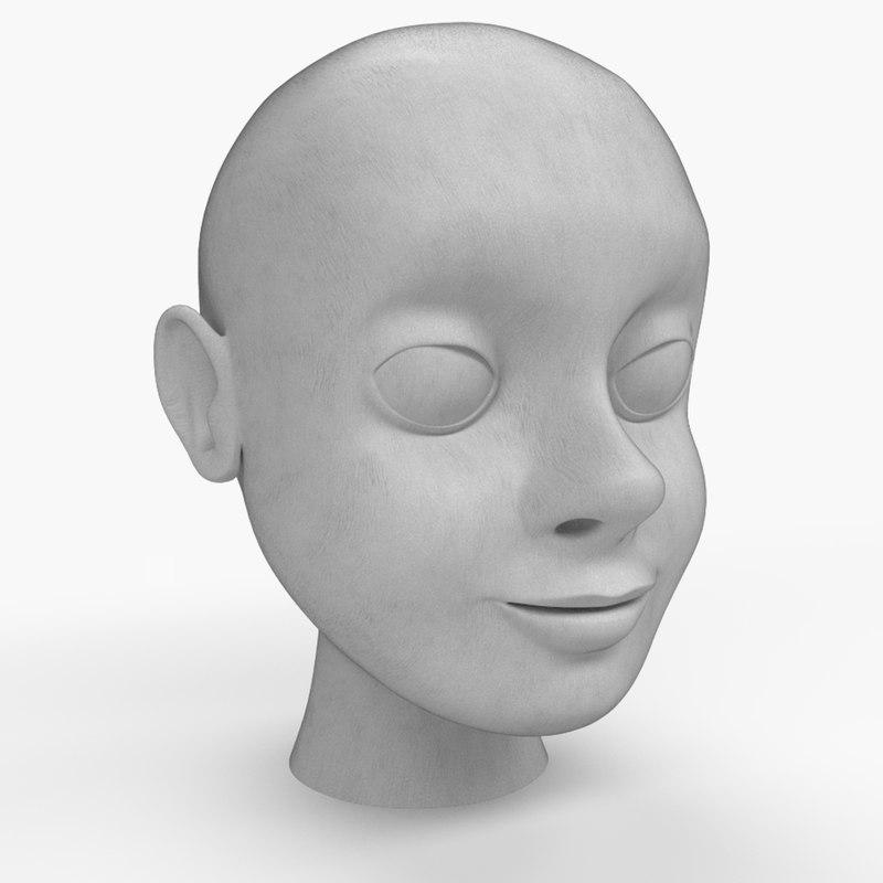 base cartoon character 3D