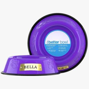 3D large bowl light purple model