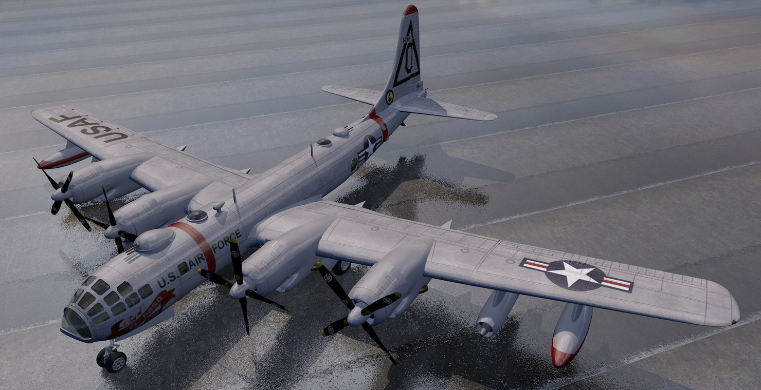 plane b-50 superfortress bomber 3D model