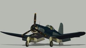 f4u-1a corsair 3D model
