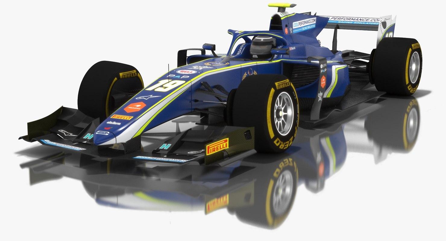 3D carlin formula 2 season model