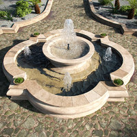 water fountain 3D