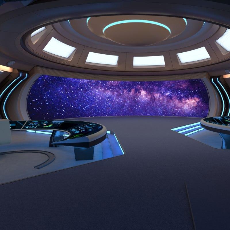 bridge spaceship 3D model