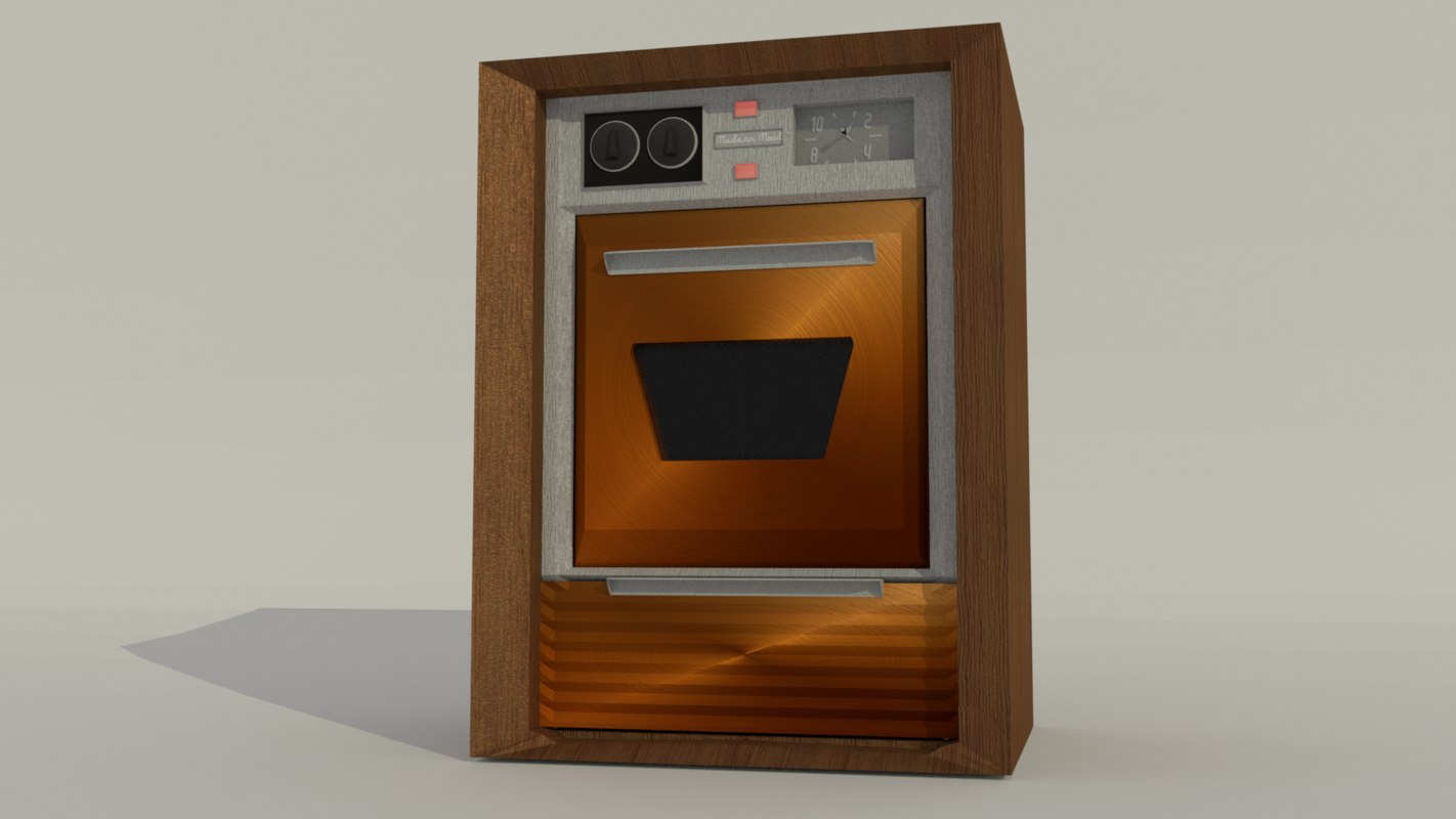 3D 50s retro stove