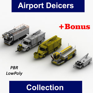 3D model airport deicers
