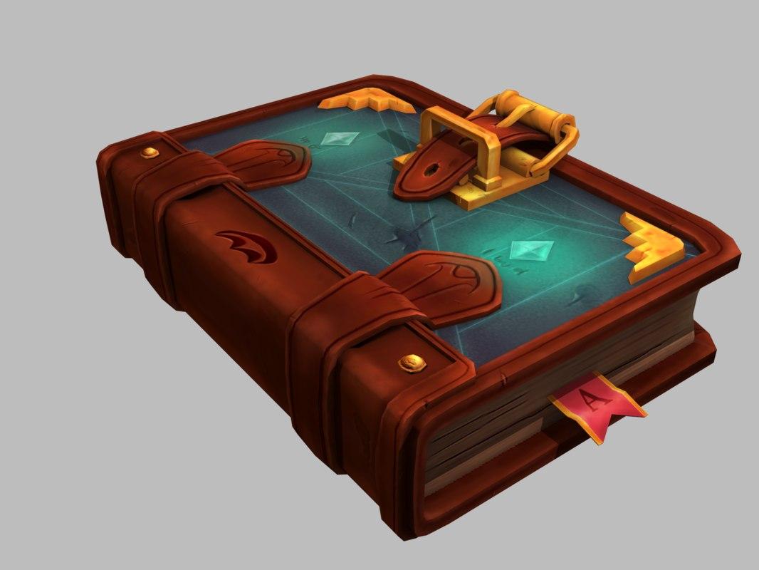 magic book leather foliant model