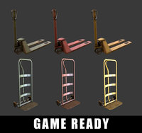 Hand Truck Trolly Lift Construction Pack ( GAME READY )