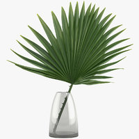 palm decoration vase 3D model
