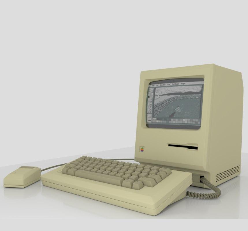 1984 macintosh computer 3D model