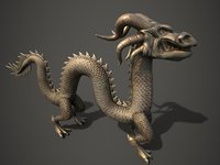 3D model chinese dragon statue